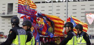 Post de La Policía impidió cualquier símbolo independentista en la final de Copa