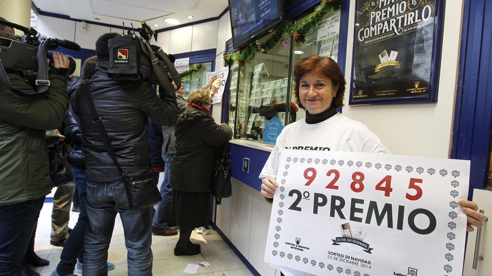 Foto: El segundo premio de la Lotería de Navidad, el 92.845 (Efe)