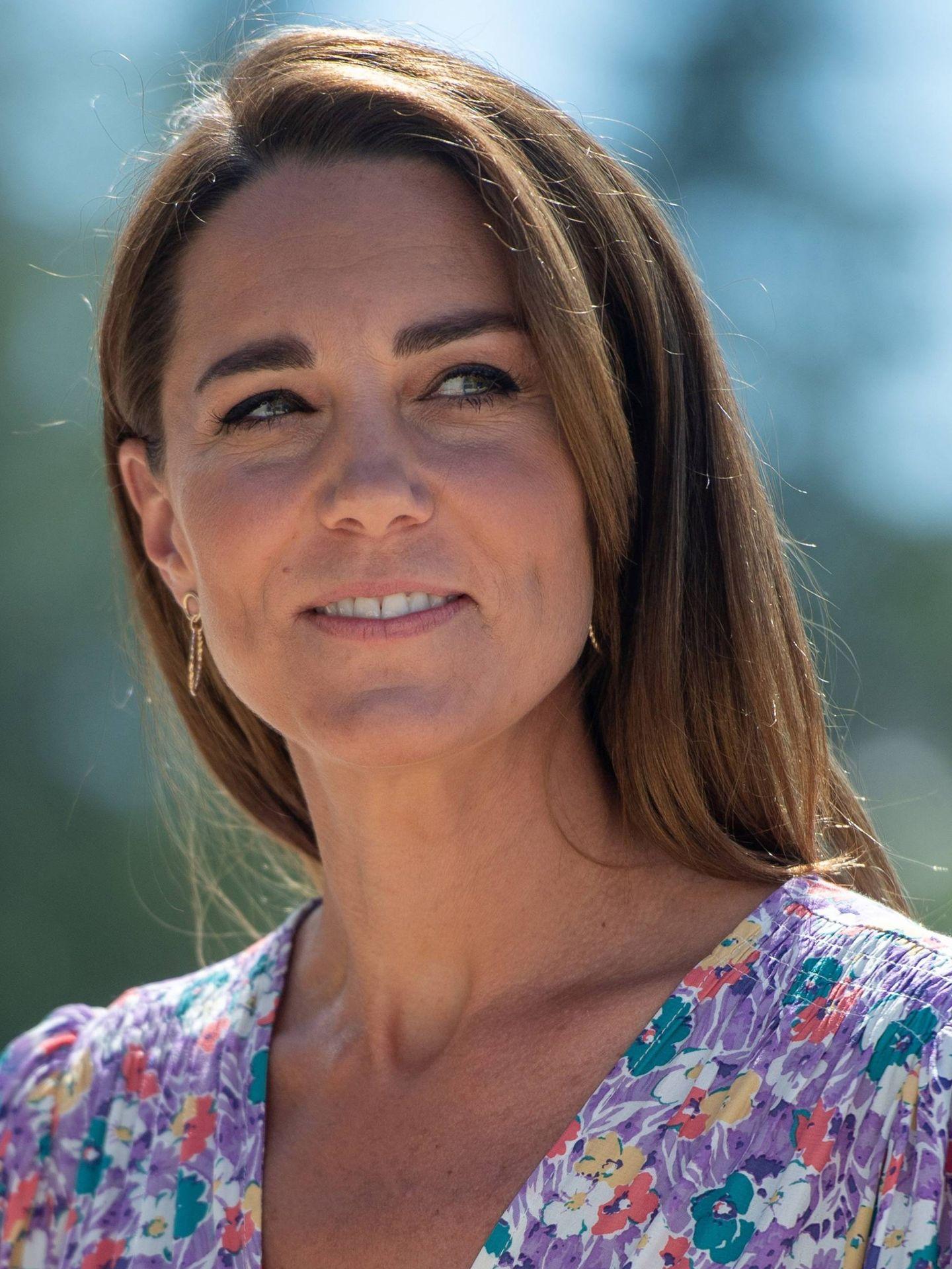 Detalle de las cejas de Kate Middleton en 2020. (Cordon Press)