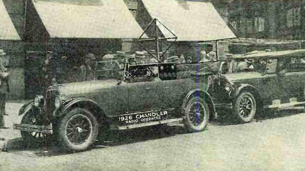 Foto: El coche radiocontrolado de Houdina Radio Control Company. (MIT)