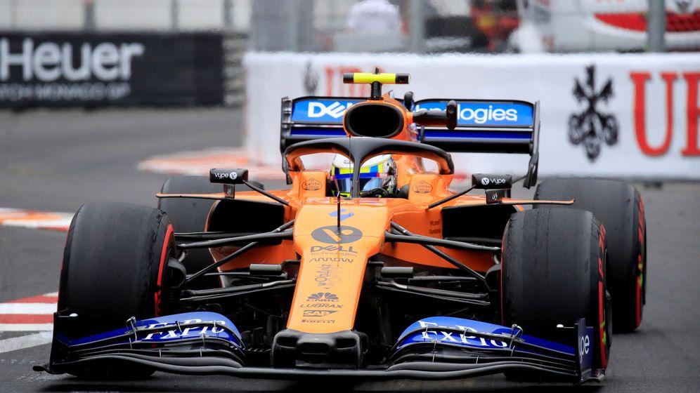 Foto: Solo Lando Norris pudo rodar con el McLaren. (Reuters)