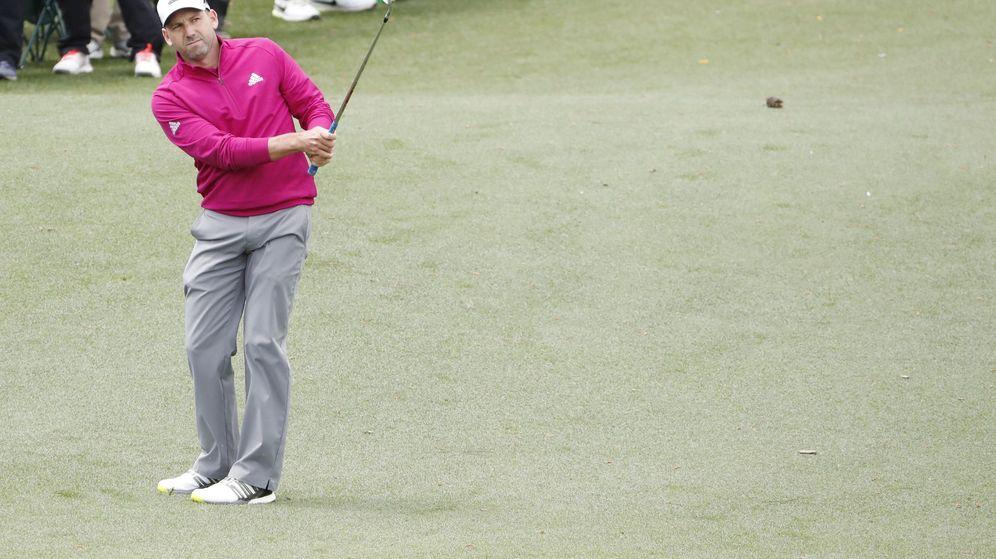 Foto: El golfista español Sergio García durante la primera ronda del Masters de Augusta. (EFE)