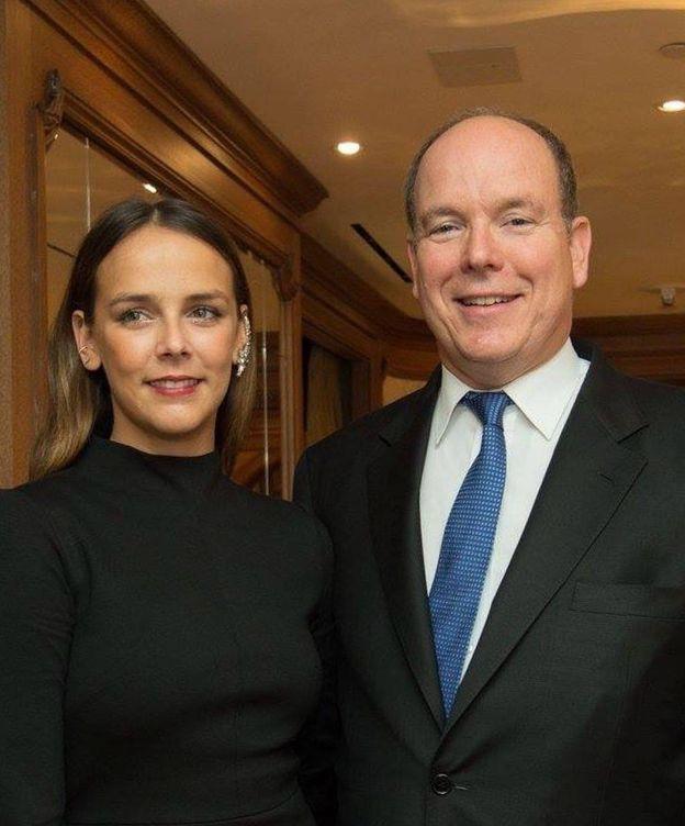 Foto: Alberto de Mónaco y Pauline Drucuet en Nueva York (CP)