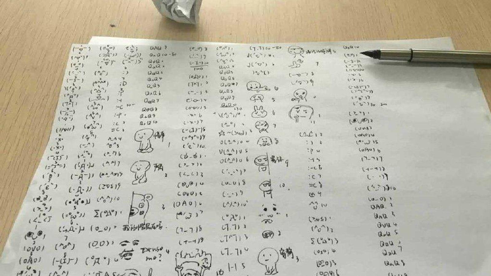 Foto: Una de las imágenes del ejemplar castigo en una universidad china (FOTOS: Weibo).