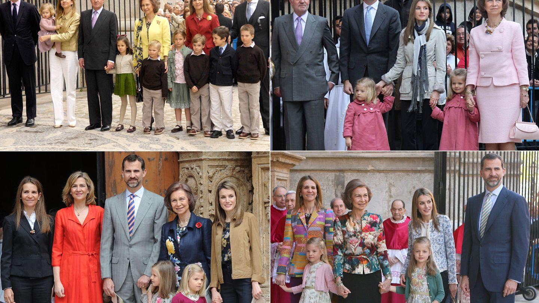 Misa de Pascua en 2007, 2010, 2011 y 2013 (Gtres)