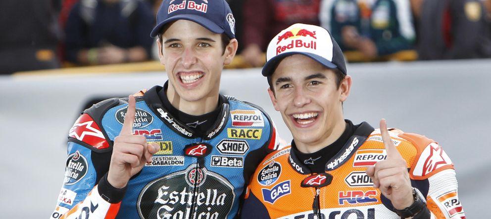 Foto: Los hermanos Márquez, los reyes del campeonato del mundo de motociclismo.