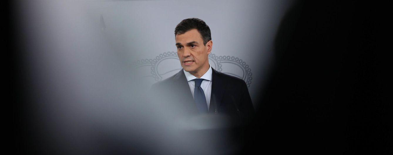 Foto: Pedro Sánchez, durante su comparecencia de presentación del Gobierno, este 6 de junio en La Moncloa. (Reuters)