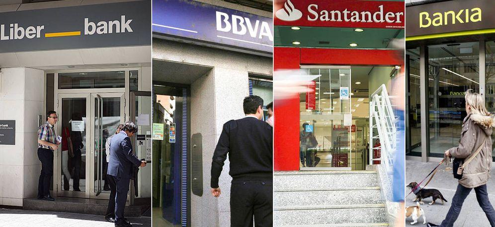 Foto: Algunas de las sucursales de los bancos más afectados.