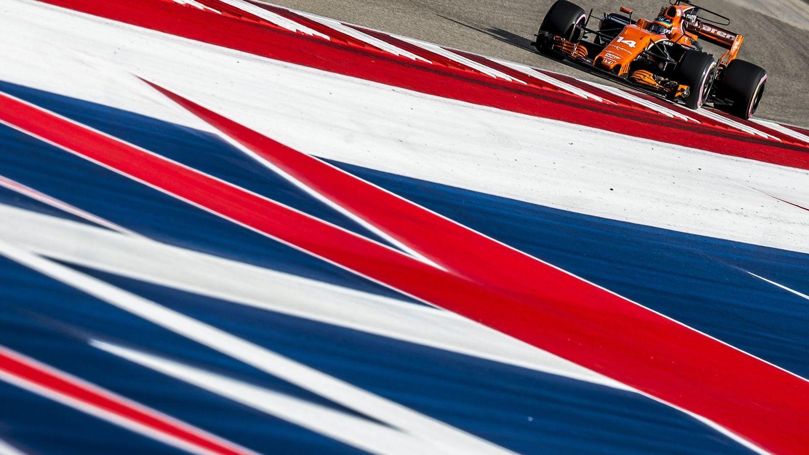 Foto: Fernando Alonso en el circuito de Austin con su McLaren. (EFE)