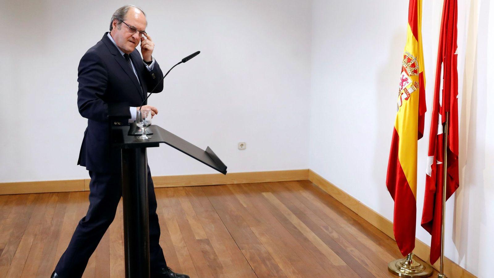 Foto: El exministro Ángel Gabilondo, portavoz socialista en la Asamblea de Madrid, el pasado 7 de mayo en la Cámara regional. (EFE)