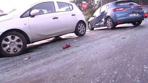 Seis coches y un autobús implicados en un accidente múltiple por el hielo en A Coruña