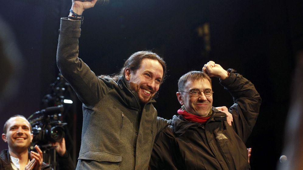 Foto: Pablo Iglesias y Juan Carlos Monedero, dirigentes de Podemos. (Reuters)