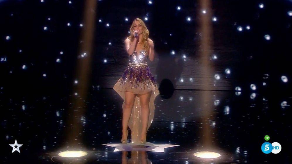 Foto: Edurne cantando en 'Got Talent España'
