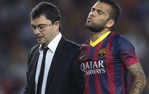 Las lesiones se ceban con el Barça: Dani Alves amplía la lista de bajas
