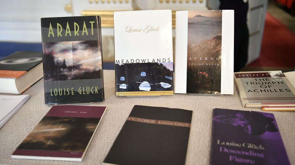Foto: Libros de Louise Glück en Estocolmo (Suecia)