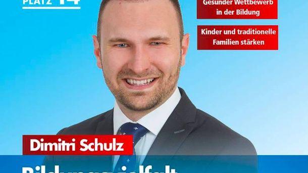Foto: Cartel electoral de Schulz, en el que recalca los valores 'de la familia tradicional'.