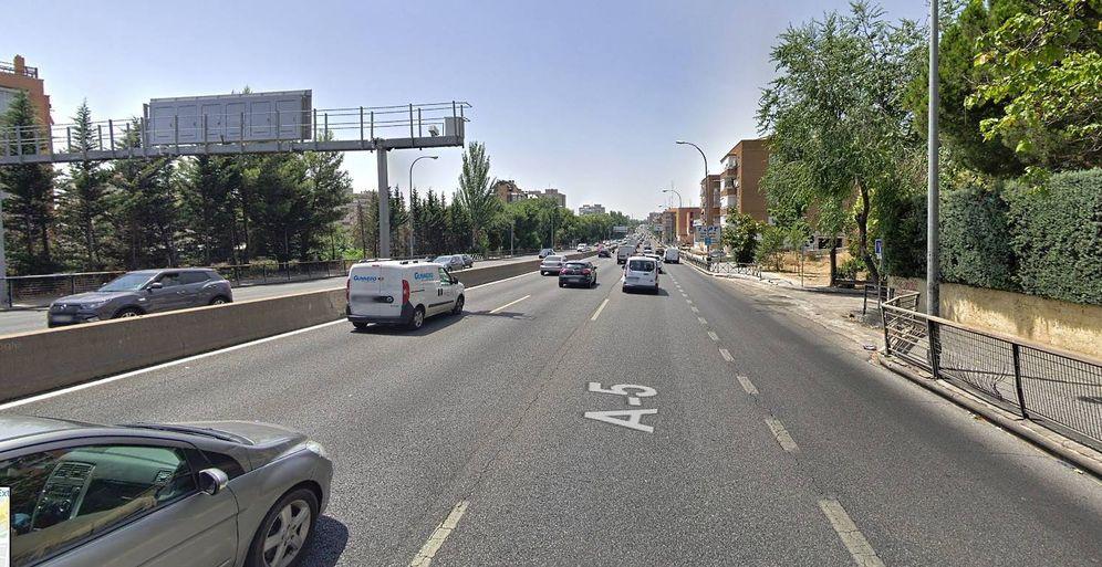 Foto: Punto en el que comienza el nuevo radar de tramo de Madrid.
