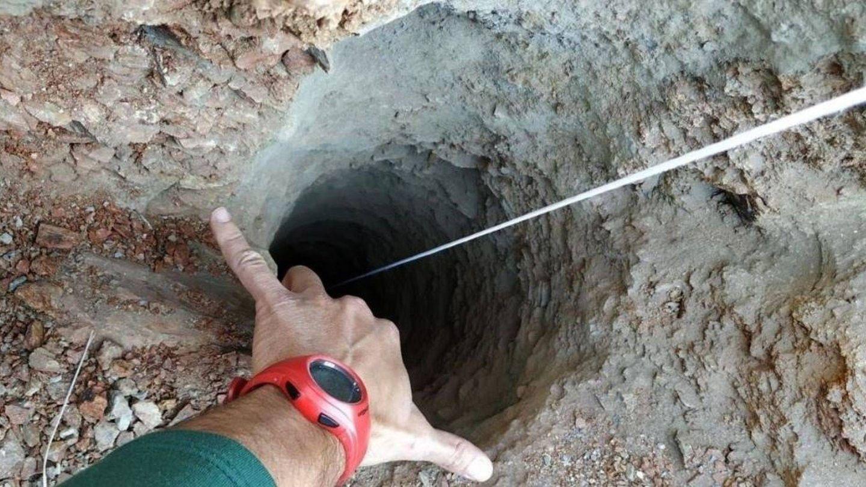 Imagen del pozo de Totalán en el que cayó el pequeño Julen. (EFE)