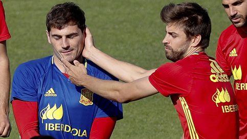 El cachete de Iker Casillas a Gerard Piqué por recordar la 'humillación' en el Bernabéu