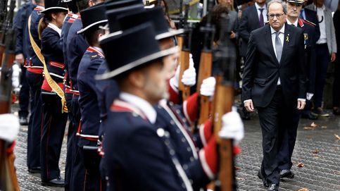 Usan el himno de España para sabotear la ofrenda floral de Quim Torra
