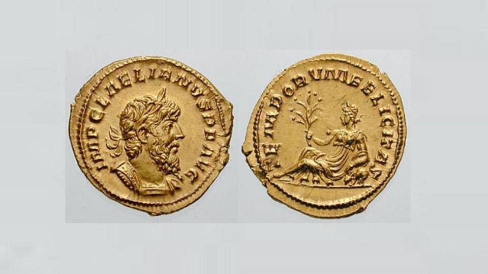 Unos trabajadores encuentran la moneda más extraña de todo el Imperio romano