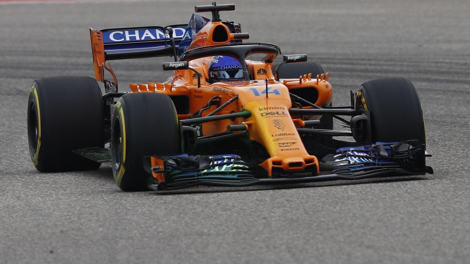 Foto: Fernando Alonso en el GP de EEUU. (EFE)