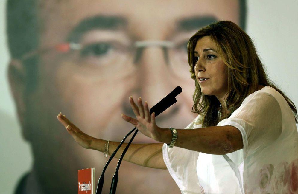 Foto: Susana Díaz, en un mitin de campaña de las autonómicas catalanas, el 22 de septiembre de 2015 en Mataró, Barcelona. (EFE)