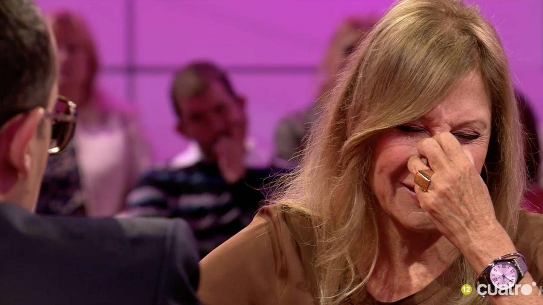 Pilar Eyre llora emocionada en el plató ante Risto Mejide.