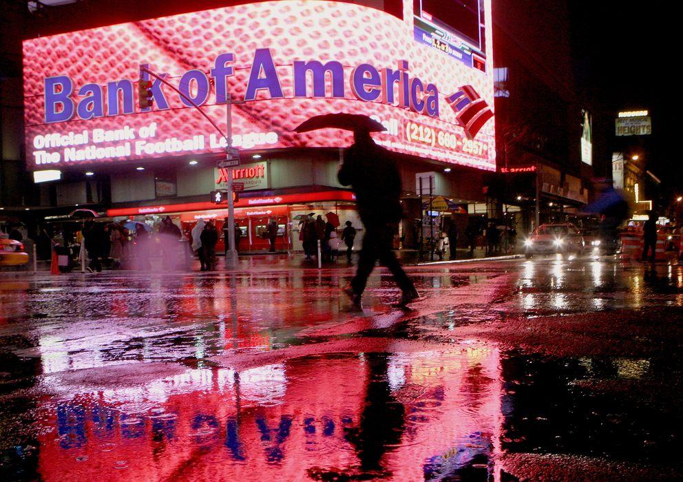 Foto: Un panel publicitario de Bank of America en Times Square, Nueva York. (Reuters).