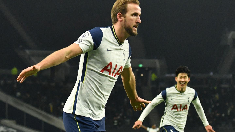 Kane y Son, celebrando el gol del inglés frente al Arsenal. (Reuters)