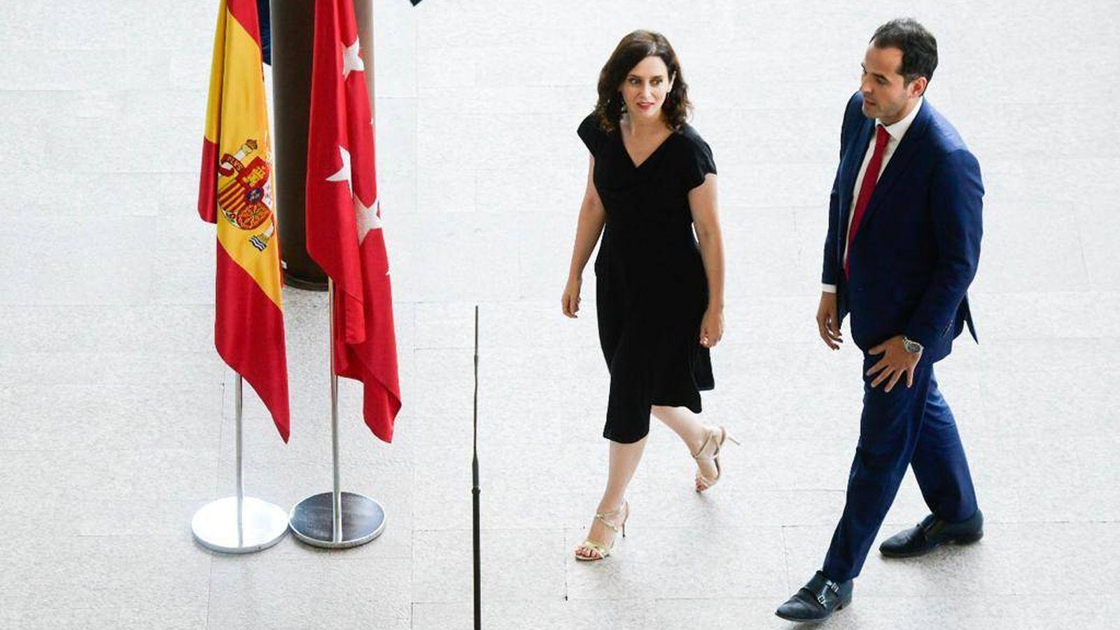 Foto: Isabel Díaz Ayuso e Ignacio Aguado en la presentación de su acuerdo