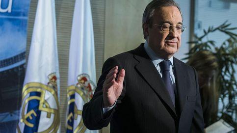 Florentino Pérez y su amigo infiel de Qatar en el Palco del Santiago Bernabéu