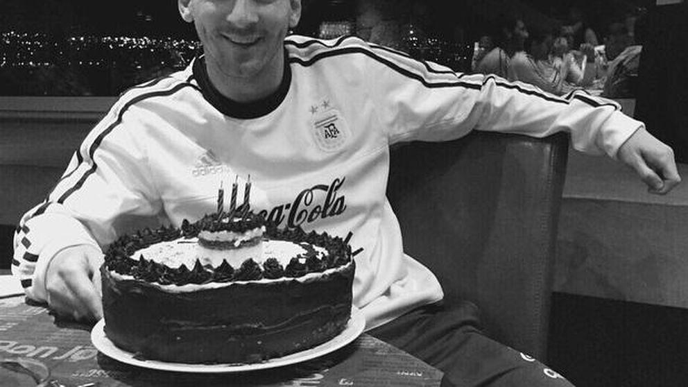 Leo Messi celebra su cumpleaños alejado de su familia