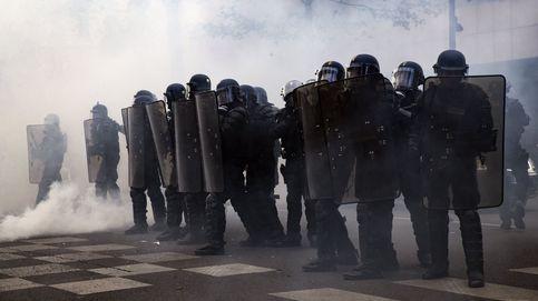 Protestas en contra de Macron y Le Pen
