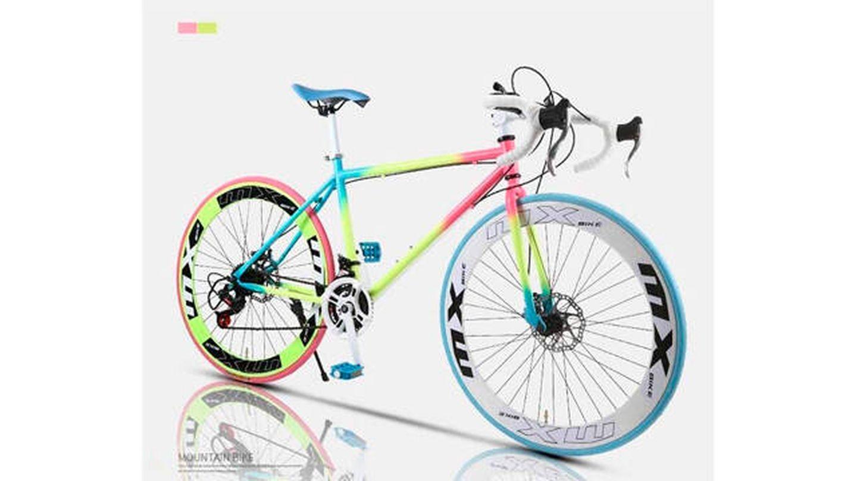 Bici de carretera Lyyy con doble disco de frenos