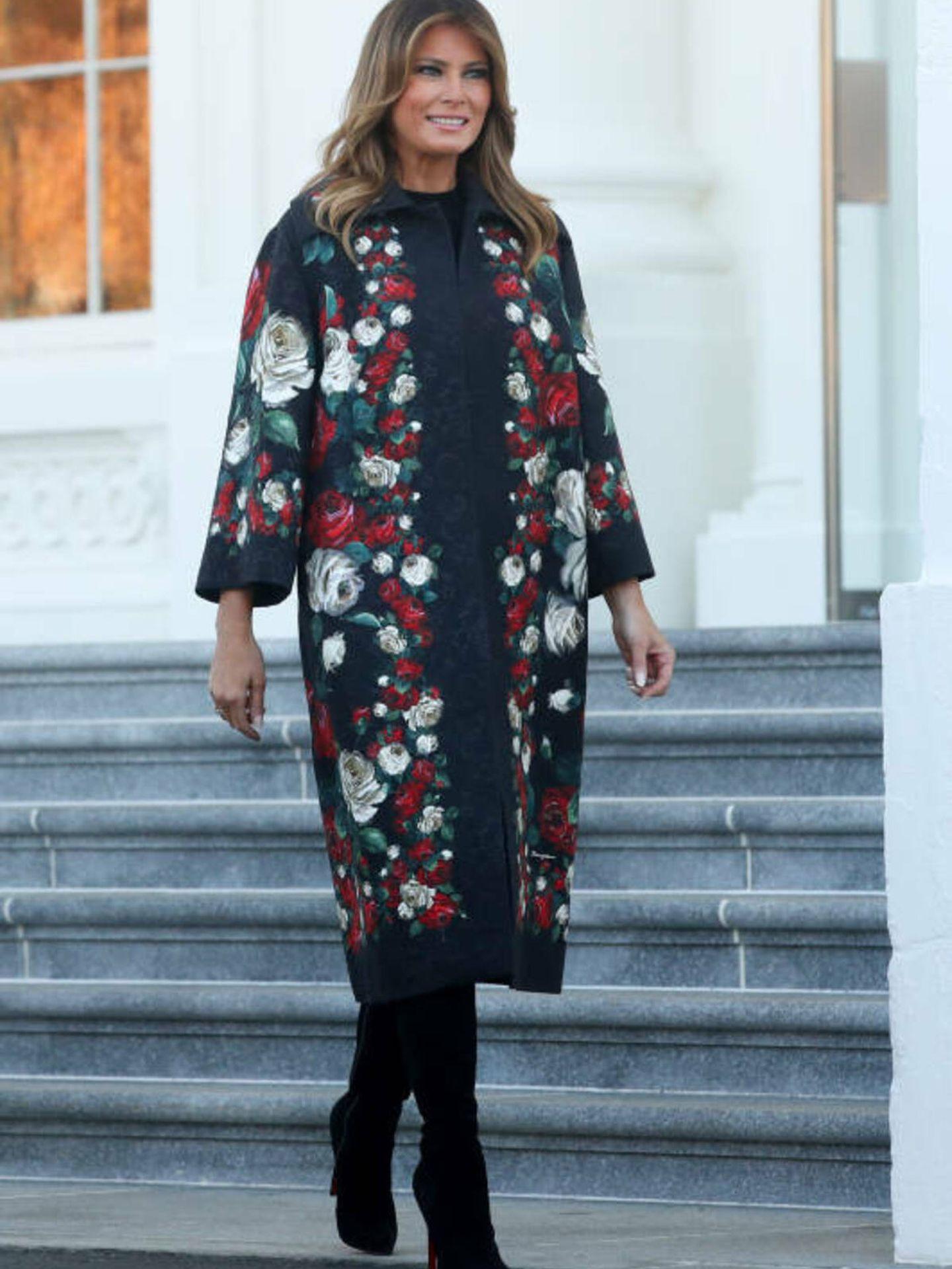 Melania Trump, vestida de Dolce & Gabbana.
