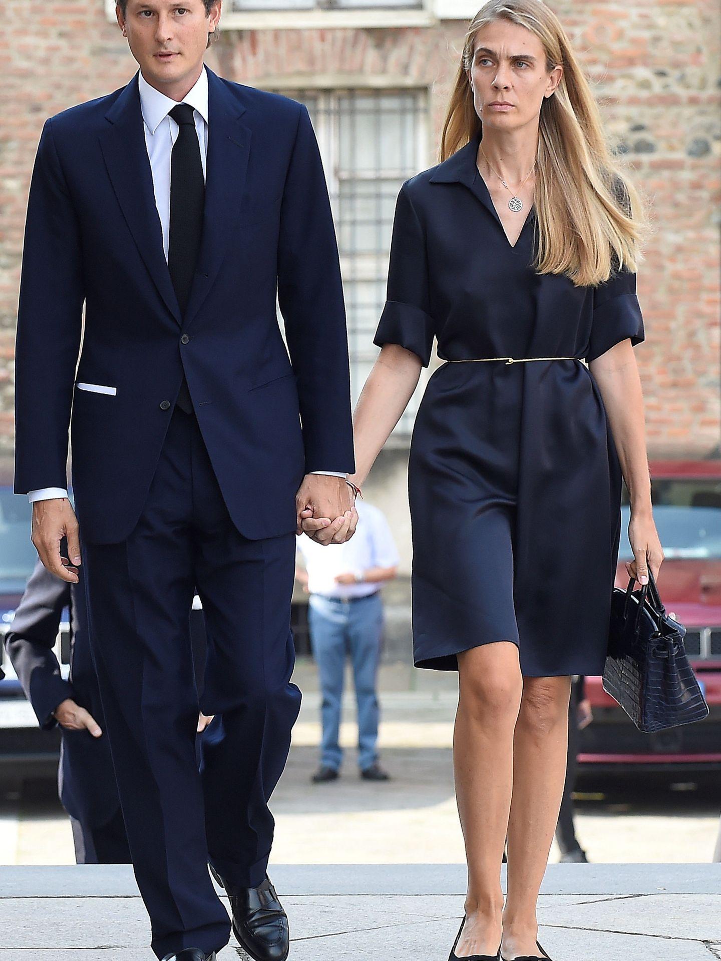 John Elkann y Lavinia Borromeo. (Reuters)