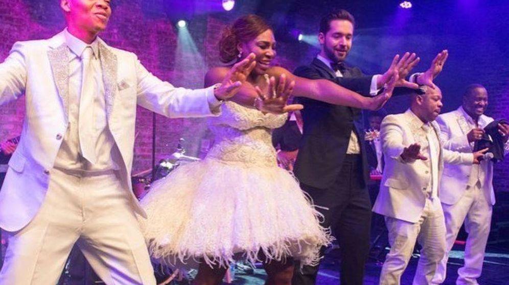 Bodas de famosos: Serena Williams ya presume de vestido de novia ...