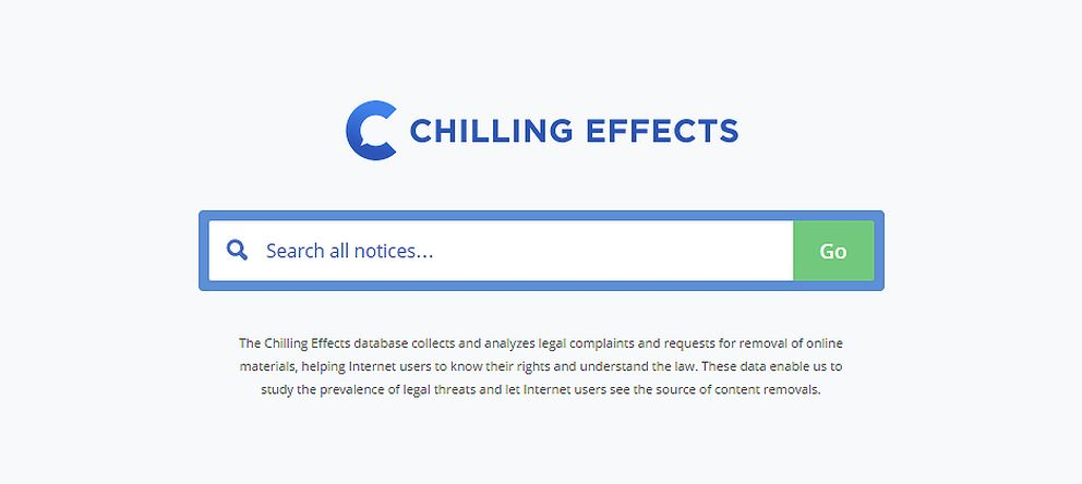 Foto: Chilling Effects, la web que te muestra toda la censura de internet