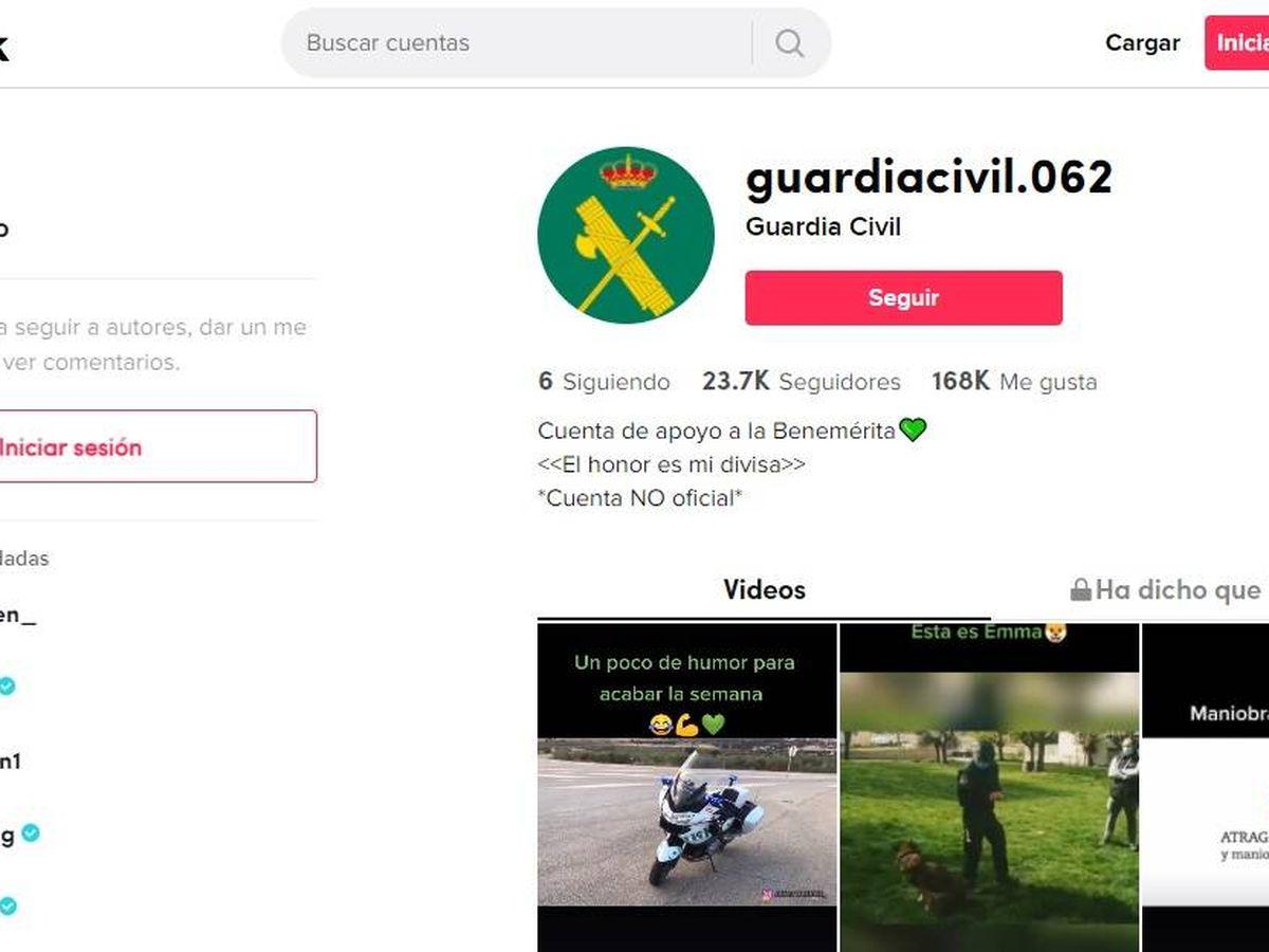 Foto: Página de inicio de la cuenta de TikTok de la Guardia Civil. (EC)
