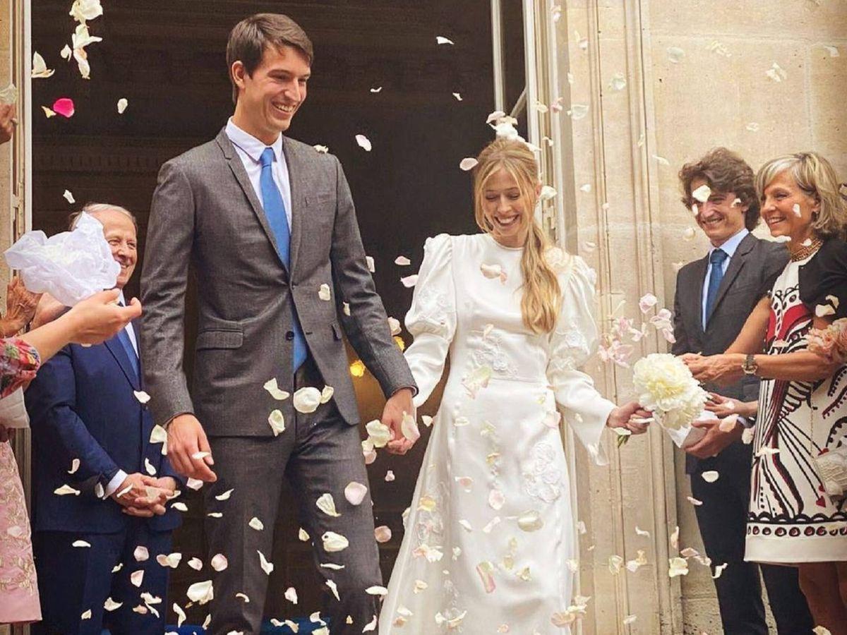 Foto: Los recién casados Alexandre Arnault y Geraldine Guyot. (Instagram @alexandrearnault)