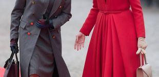 Post de Así fue el primer 'duelo de estilo' entre Matilde de Bélgica y Brigitte Macron