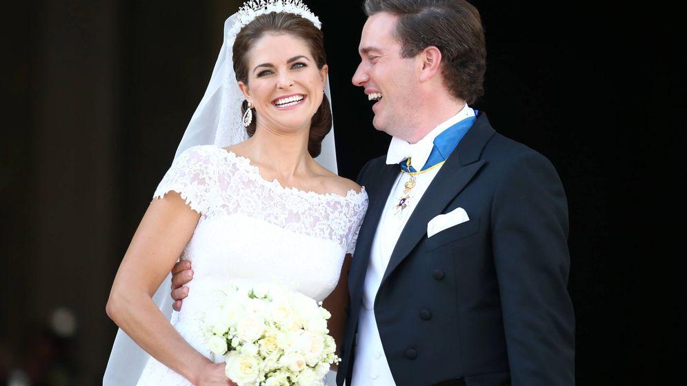 Foto: La princesa Magdalena y Chris O'Neill el día de su boda. (Getty Images)
