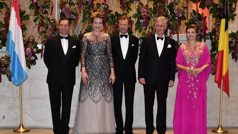 Matilde y Felipe de Bélgica, en su última visita oficial a Luxemburgo. (Cordon Press)