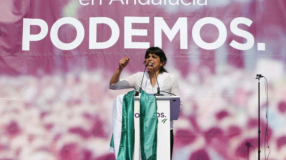 Foto: La candidata de Podemos a la Presidencia de la Junta de Andalucía, Teresa Rodríguez. (EFE)