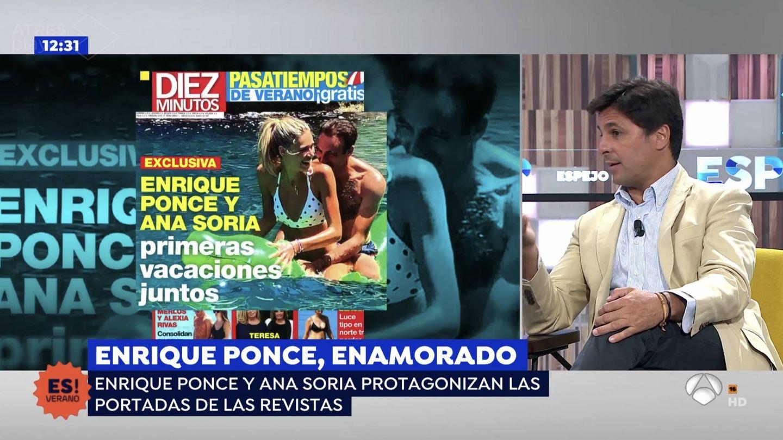 Fran Rivera si niega a comentar las portadas de Enrique Ponce. (Atresmedia Televisión)