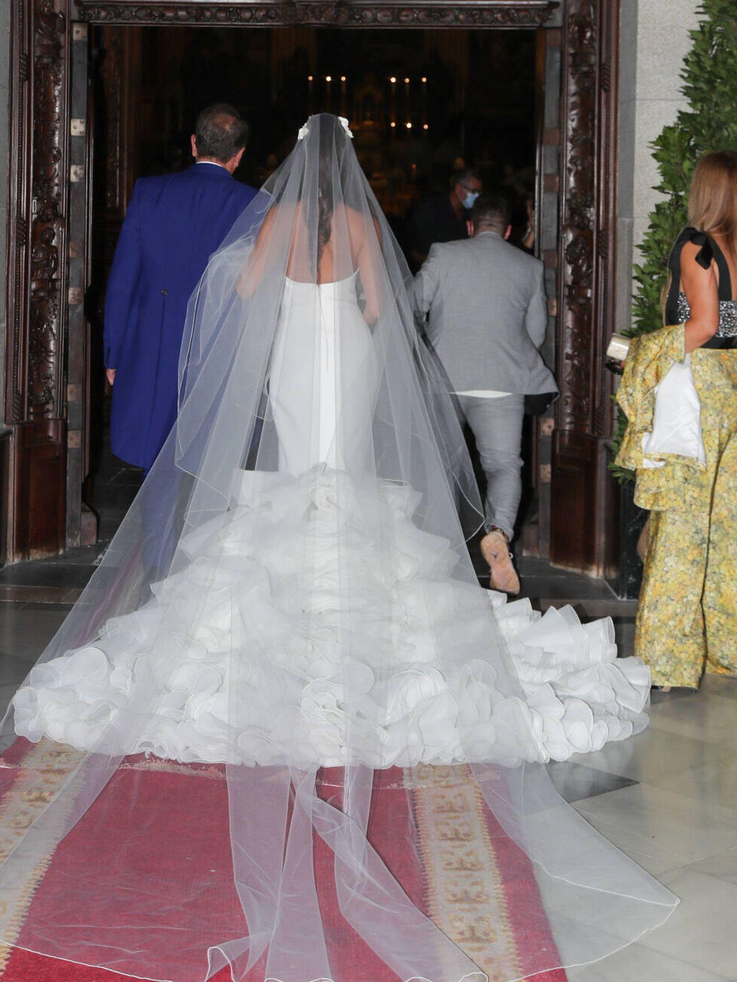 Rocío Gil, en su boda. (Gtres)