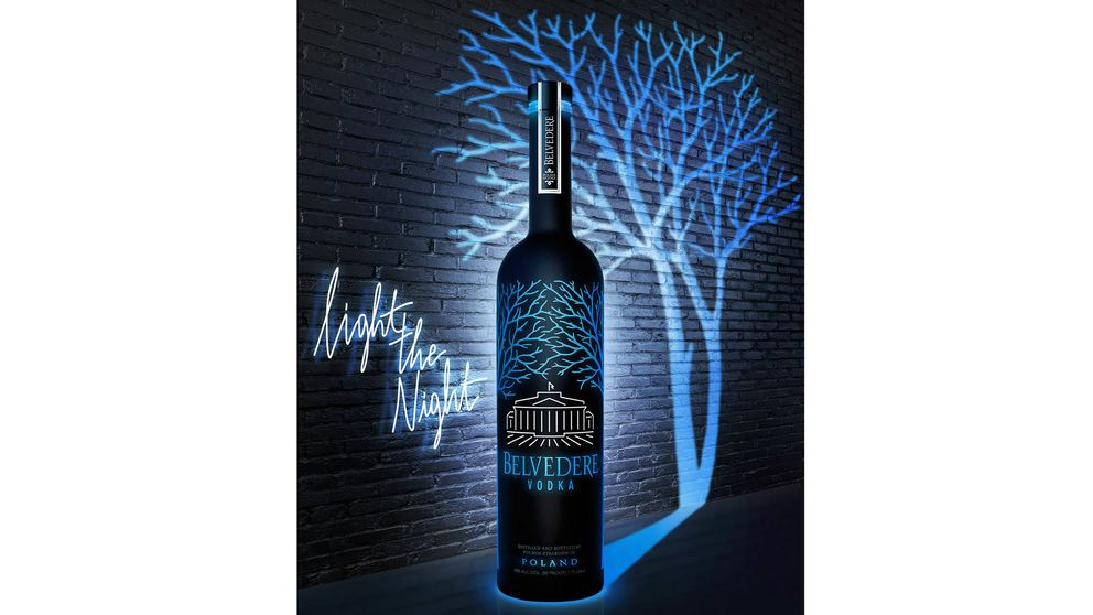 La nueva botella luminosa de Belvedere Vodka
