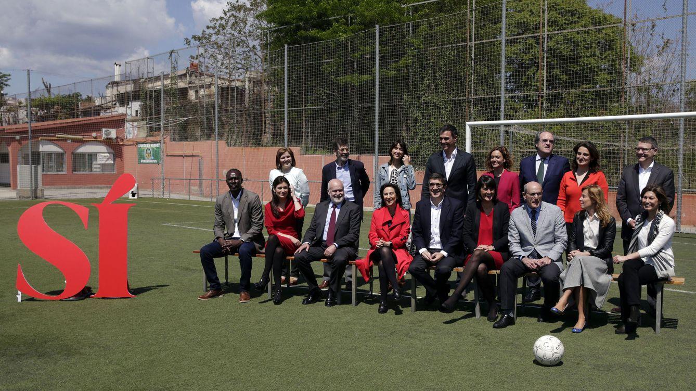 Foto: Pedro Sánchez presenta en Barcelona a su Gobierno del cambio para el 26-J