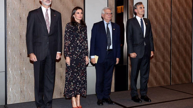 Los Reyes con la colectividad española. (Casa Real)